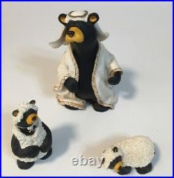 Rare, Bearfoots, Beartivity by Jeff Fleming. 12 pieces, Christmas