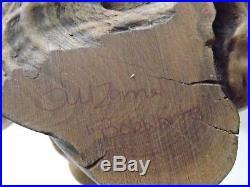 Rare Big Sky Carvers- Hand Carved Wooden 8 Bobwhite Beautiful Signed Burl Base