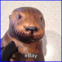 Rare Big Sky Carvers Masters Edition Wood Sea Otter The Baykeeper