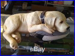 Rare Big Sky Carvers Practiced Pup Bradford Williams Yellow Lab And Duck