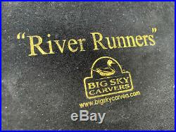 Rare! Big Sky Carvers'RIVER RUNNERS' Wild Horses Water Fountain Sculpture