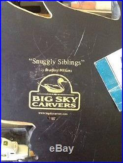 Rare Big Sky Carvers Snuggly Siblings Bradford Williams Yellow Black Lab