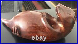 Rare Big Sky Carvers Solid Wood Sea Pirate Otter Signed