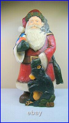 Rare Big Sky Carvers Woodland Santa 21 Signed Figure