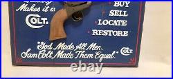 Rare Folk Art Dedicated Colt. 45 Collectors Sign Big Sky Carvers Kissy Durham
