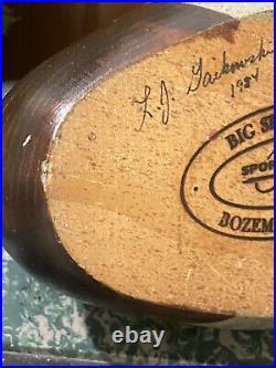 Rare Label 1984 Vintage Ducks Unlimited BIG SKY CARVERS double signed wood decoy