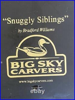 Sculpture Bradford Williams Big Sky Carvers Snuggly Siblings Labs