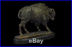 Sculpture Statue Big Sky Carvers American Icon Bison Buffalo Cast Kauba Bronze