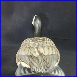 Signed Hand Carved SS Huntsman Big Sky Carvers Vintage Wood Canada Goose Decoy