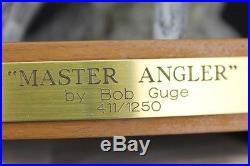 Signed Master Angler Bob Guge Big Sky Carvers Wood Painted Kingfisher Sculpture
