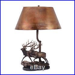 Twin Trophies Elk Copper Lamp By Big Sky Carvers 3005030111 NIB