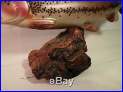 Very Nice Carved Wood Rainbow Trout Signed By Bill Reel Big Sky Carvers