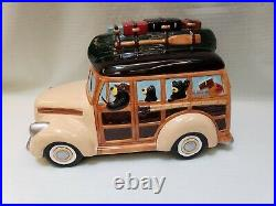Vintage Big Sky Carvers Barefoots Woodie / Woody Wagon Cookie Jar Jeff Fleming