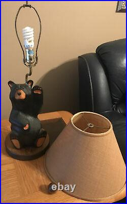 Vintage Big Sky Carvers Bear Table Lamp Excellent Condition