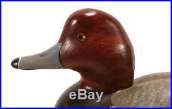 Vintage Big Sky Carvers Bozeman Montana Redhead Duck Bird Decoy Scott Huntsman