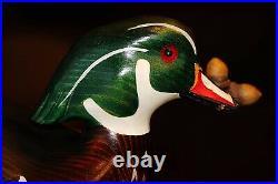 Vintage Big Sky Carvers Gold Medallion John Gewerth Wood Duck Decoy