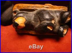 Vintage Big Sky Carvers Nativity Bears Set of 3 C. 2000