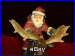 Vintage Big Sky Carvers Santa Rocky Mtn. Reindeer By Stuart Bond # A0316
