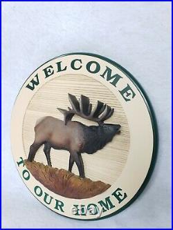 Vintage Big Sky Carvers Welcome Home 17 Sign Lodge Log Home Style Meissenburg