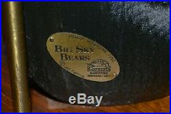 Vintage Big Sky Carvers Wood Bear Table Lamp Great Condition