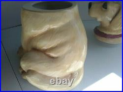 Vintage Canine Kitchen Collection By Big Sky Carvers Cookie Jar Yellow Lab 12.5