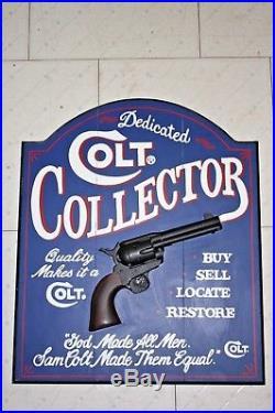 Vintage Handmade Western Americana Colt Firearms Sign By Big Sky Carvers NICE