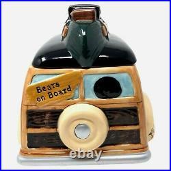 Vintage Retired Big Sky Carvers Bearfoots Woodie Wagon Cookie Jar Retired