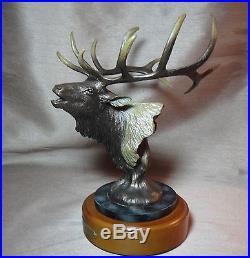 Wapiti American Elk Bust Sculpture Statue Big Sky Carvers Nice