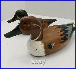 Wood Big Sky Carvers Bozeman Montana Duck Decoy Lot 2 Decor Hunting Signed Big S
