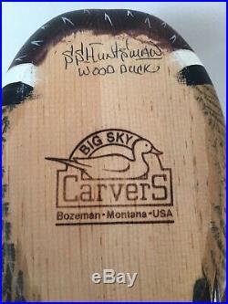 Wood DUCK DECOY Big Sky Carver SIGNED
