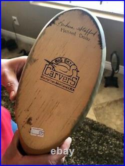 Wood Duck Mallard Decoy Big Sky Carver Signed Barbara Stafford Manhattan-MT BH