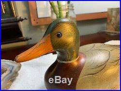 Wood Duck Mallard Hen Decoy Big Sky Carver Signed Barbara Stafford Bozeman MT