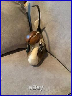 Wood-carved Drake Pintail Duck Decoy! Gorgeous Hindley! Big Sky Carvers